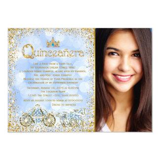 Cinderella Princess Carriage Photo Quinceanera 11 Cm X 16 Cm Invitation Card