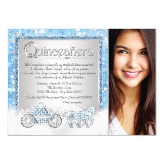 Cinderella Princess Quinceanera 11 Cm X 16 Cm Invitation Card
