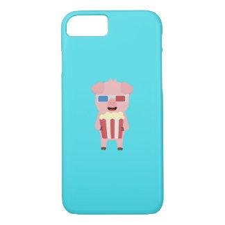 Cinema Pig with Popcorn Q1Q iPhone 8/7 Case