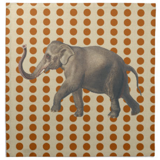 Cinnamon Spice Moods Dots with Elephant Napkin