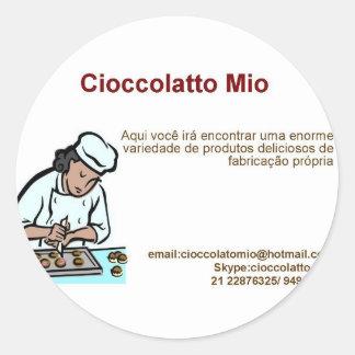Cioccolatto Mio Round Sticker
