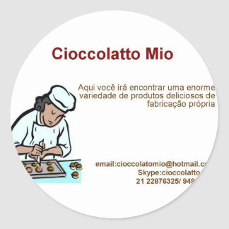 Cioccolatto Mio Classic Round Sticker