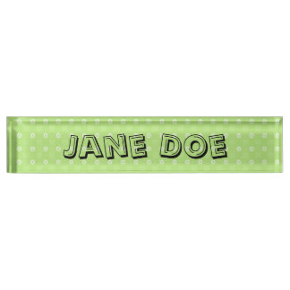 [CIR-GRN-1] Cute green teacher's desk nameplate