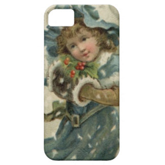 Circa 1871: A young girl in the snow iPhone 5 Case