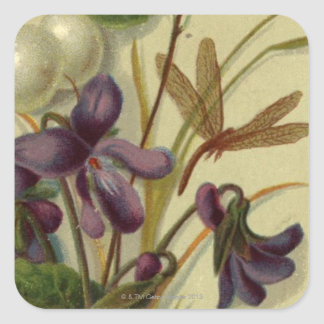 Circa 1881: Snowberries and violets Square Sticker