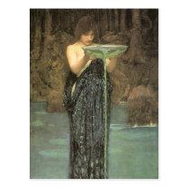 Circe Invidiosa - John William Waterhouse Postcard