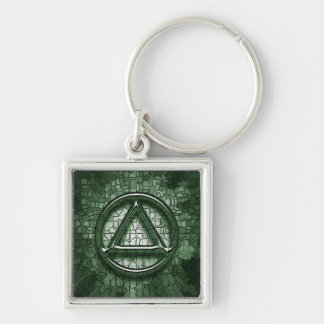 Circle and Triangle Recovery Sobriety Keychain