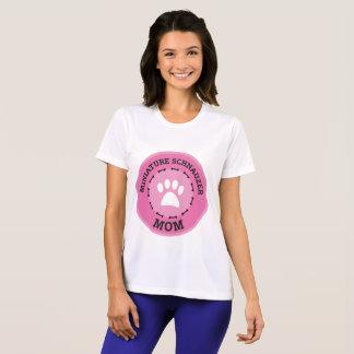 Circle Miniature Schnauzer Mom Badge T-Shirt