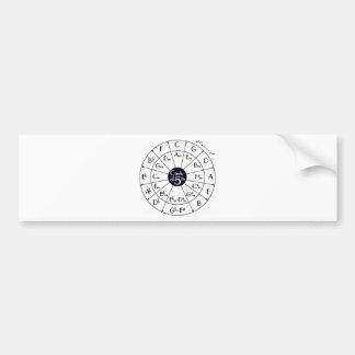 Circle Of Fifths Bumper Sticker