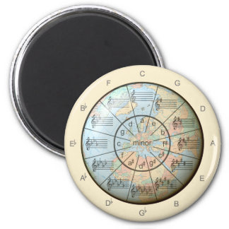 Circle of Fifths for Music Around the Globe Magnet