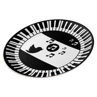 Circle Piano Keys and Songbird Plate