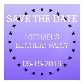 Circle / Rings - Stars black + your backg. & ideas Magnetic Invitations