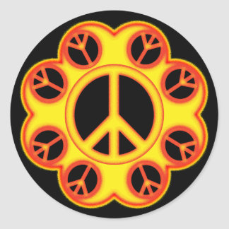 CIRCLE THE PEACE SIGN STICKERS