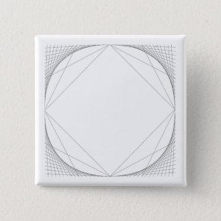 """Circle To Square 2"""" Square Button"""