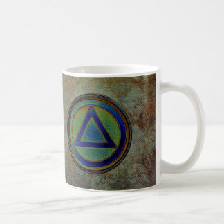 Circle Triangle Recovery Sobriety Coffee Cup Mug