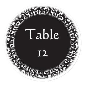 Circle Vintage Black Design - Table Numbers Card