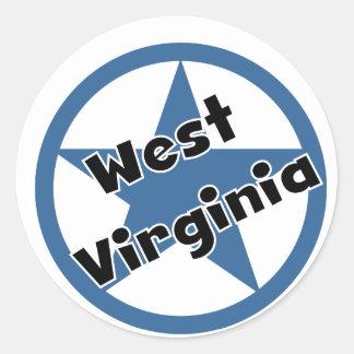 Circle West Virginia Round Sticker