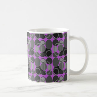 Circles and Ovals Pink Coffee Mug