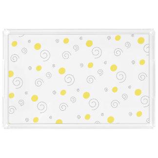 Circles & Spirals Acrylic Tray