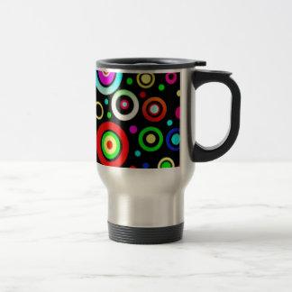 Circles Stainless Steel Travel Mug