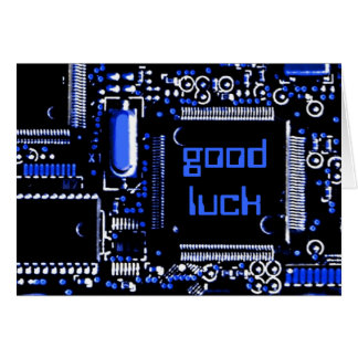 Circuit Blue 2 'Good Luck' greetings card
