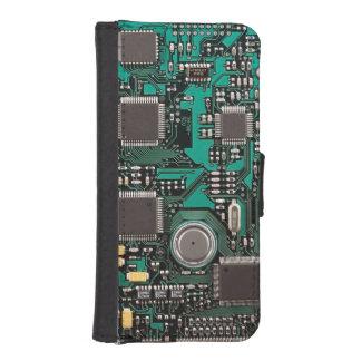 Circuit board iPhone SE/5/5s wallet case