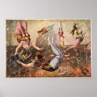 Circus-1890 - distressed print