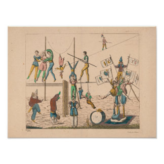 """'Circus Acts' Vintage Poster Art (16"""" x 12"""")"""