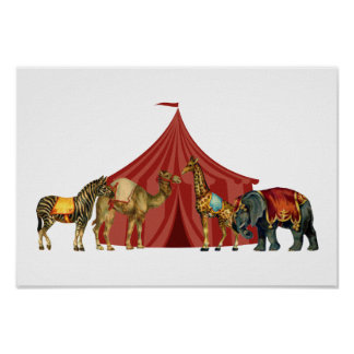 Circus Animals And Tent Posters