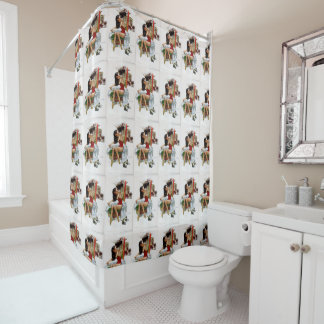 Circus Beauty Vintage Art Pin-Up Girl Shower Curtain