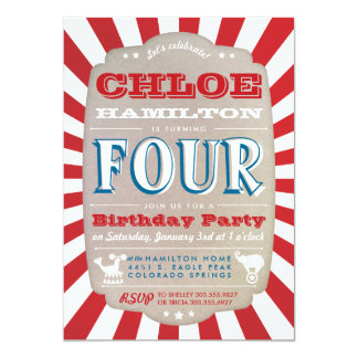 Shop Zazzle's selection of circus birthday invitations for your party!