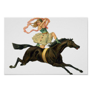 Circus Horse and Dancer Posters