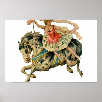 Circus Horse and Dancer Print