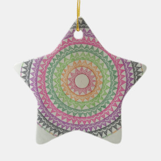 Circus Lights Ceramic Star Decoration