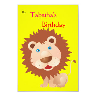 Circus Lion Party Card