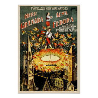 Circus Performance Vintage Poster