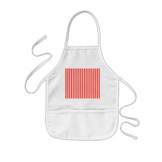 Circus Red and White Cabana Stripes Kids Apron