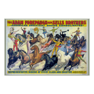 Circus Riders Vintage Theater Poster