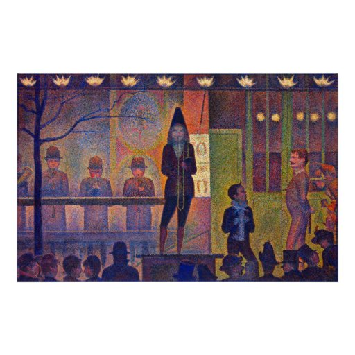 Circus Sideshow - Vintage Art by Seurat Poster