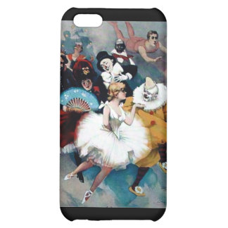 Circus vintage poster ballerina dogs trapez iPhone 5C case