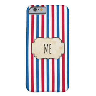 Circus Vintage Strips red and blue Barely There iPhone 6 Case