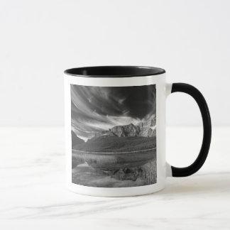 Cirrus clouds over Waterfowl Lake, Banff Mug