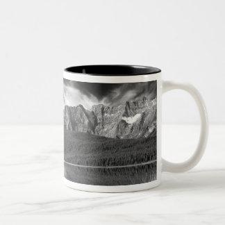 Cirrus clouds over Waterfowl Lake, Banff Two-Tone Coffee Mug