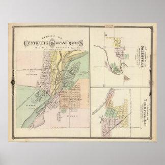 Cities of Centralia & Grand Rapids Poster
