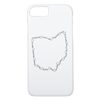 Cities of Ohio 001 iPhone 8/7 Case