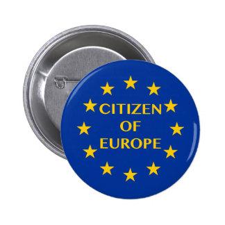 Citizen of Europe 6 Cm Round Badge