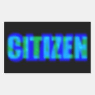 Citizen Slave Rectangular Sticker