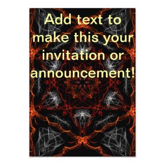 Citrine Flame Graphic 5x7 Paper Invitation Card