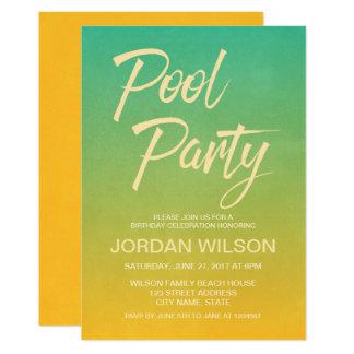 Citrus Birthday Anniversary Pool Party Invitation