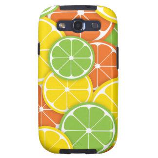 Citrus crush juicy round lemon lime orange slices galaxy SIII covers